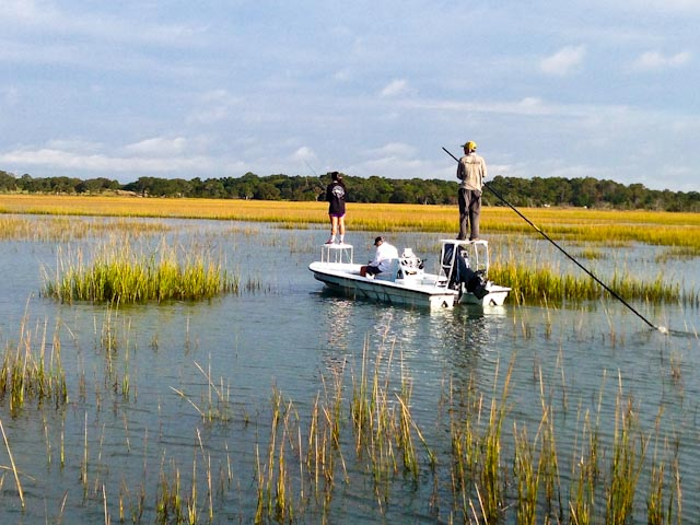 Captain michael bruner a native sc fishing guide for Charleston fly fishing